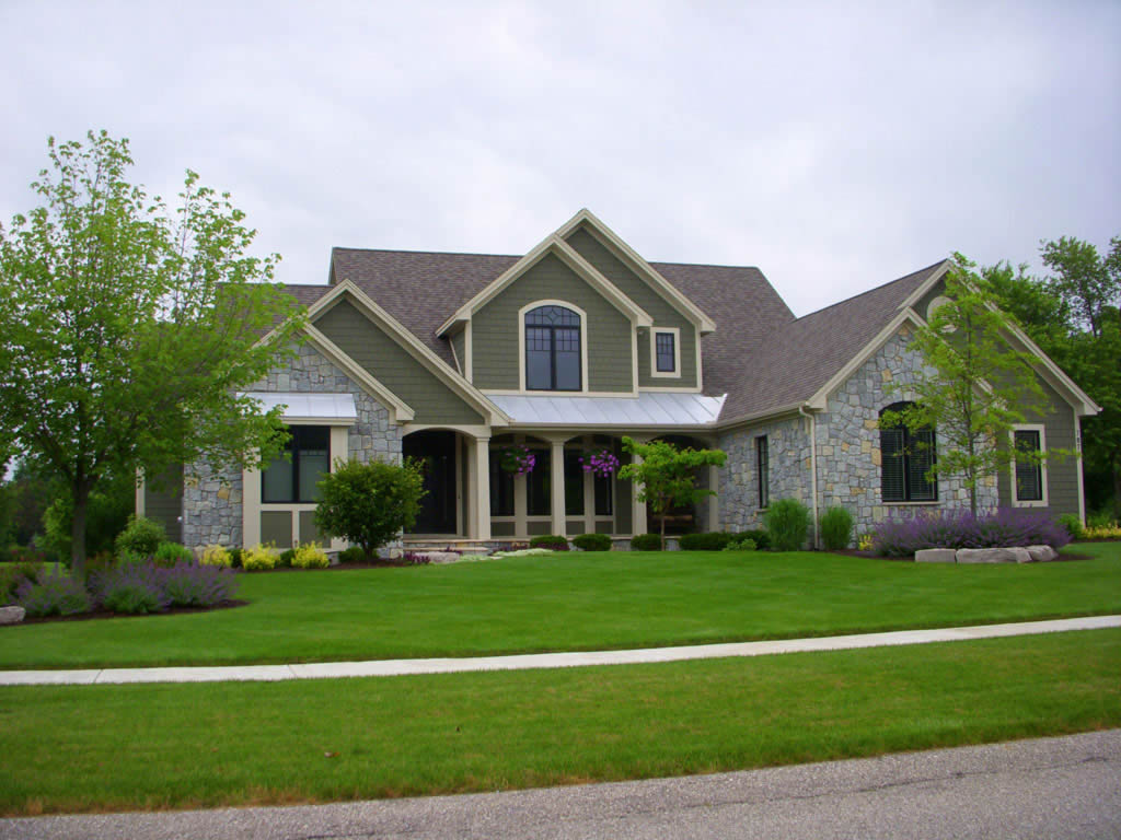 Shurlow custom home images for Pictures of exterior homes